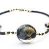 Necklace in Chalcedony Murano Glass
