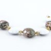 Bracelets in Chalcedony and Avventurina Murano Glass