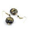 Earrings in Chalcedony Murano Glass