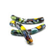 10 SEDANINI beads with colored pieces of glass fused
